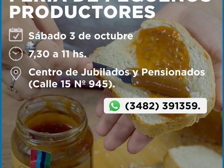 LA FERIA DE PEQUEÑO PRODUCTORES TIENE NUEVO HORARIO DE ATENCIÓN