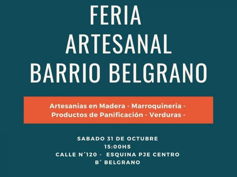 VISITÁ LA FERIA ARTESANAL BARRIO BELGRANO