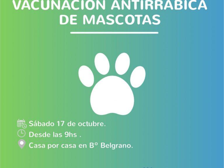 LA VACUNACIÓN ANTIRRÁBICA DE MASCOTAS CONTINUA EN Bº BELGRANO