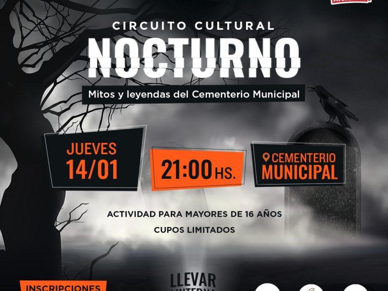 """LLEGA """"NOCTURNO"""" CIRCUITO CULTURAL EN EL CEMENTERIO MUNICIPAL"""