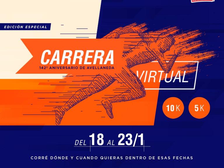 INSCRIBITE A LA CARRERA VIRTUAL 142º ANIVERSARIO DE AVELLANEDA