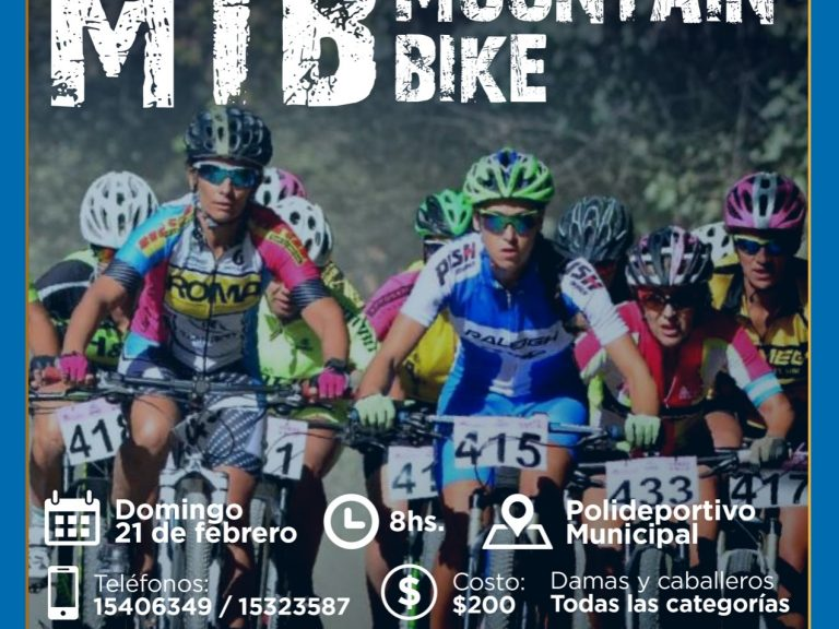 Domingo de mountain bike en el Polideportivo Municipal