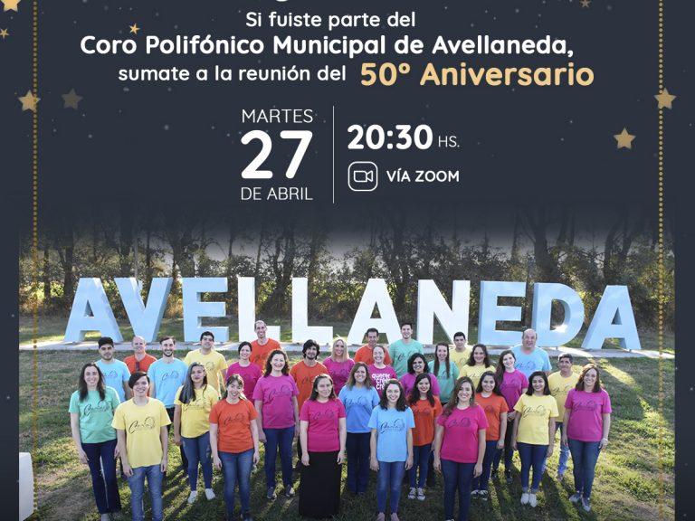 Si integraste el Coro Polifónico de Avellaneda sumate a un encuentro virtual por la celebración de su 50° Aniversario