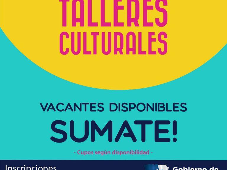 Talleres culturales en Avellaneda: aprovechá los cupos vacantes
