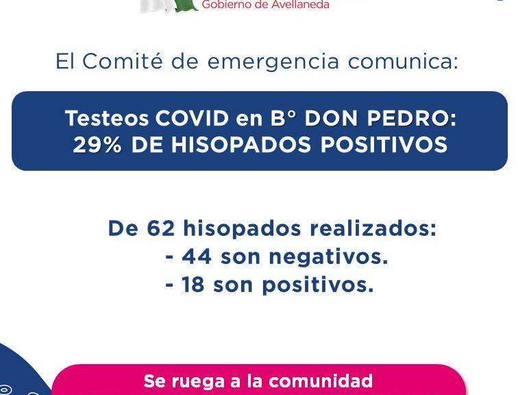 Testeos COVID: Resultados del operativo en B° Don Pedro