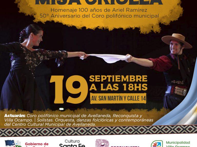 Tendrá lugar un Mega concierto MISA CRIOLLA en Avellaneda